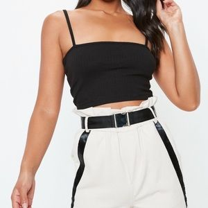 Straight neck crop top MISSGUIDED BRAND NEW TAG